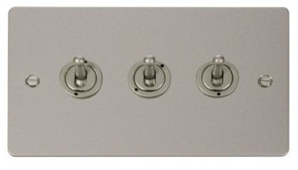Scolmore Click Define FPPN423 10AX 3 Gang 2 Way Toggle Switch