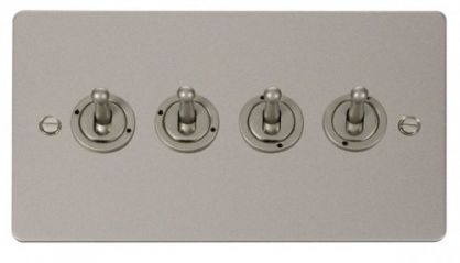 Scolmore Click Define FPPN424 10AX 4 Gang 2 Way Toggle Switch