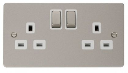 Scolmore Click Define FPPN536WH Ingot 2-Gang 13A DP Switched Socket - White