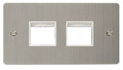 Scolmore Click Define FPSS404WH 2 Gang Plate (2+2) Switch Aperture - White