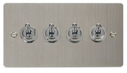 Scolmore Click Define FPSS424 10AX 4 Gang 2 Way Toggle Switch