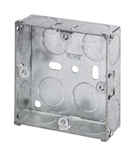 Metal Back Boxes Online, Deep Dry Line Boxes, Surface PVC Pattress at PEC