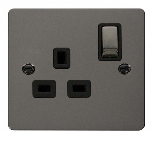 Click Define Black Nickel FPBN Socket Outlets