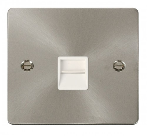 Click Define Brushed Stainless Steel FPBS Data Sockets