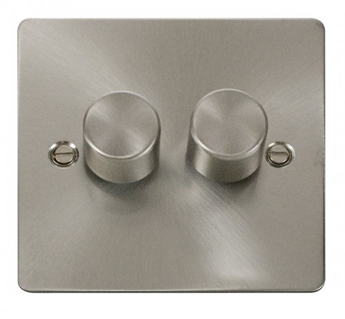 Click Define Brushed Stainless Steel FPBS Dimmers