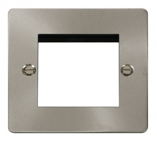 Click Define Brushed Stainless Steel FPBS New Media Plates