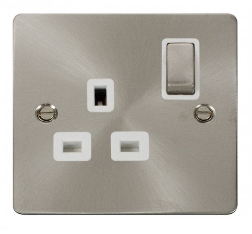 Click Define Brushed Stainless Steel FPBS Socket Outlets