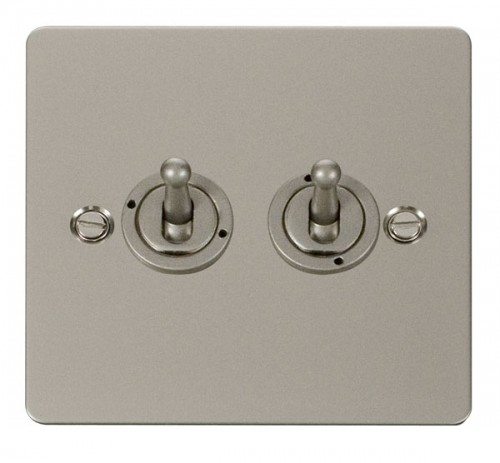 Click Define Pearl Nickel FPPN Toggle Switches