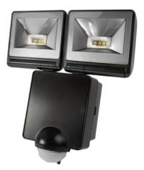 Timeguard LED200PIRB 2 x 8 Watt LED PIR Floodlight Black