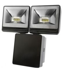 Timeguard LED200FLB 2 x 8 Watt LED Floodlight Black