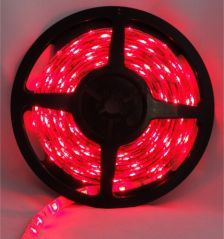 Pecstar LED Tape Single Colour 5m Red 5050 60 LEDs Per Meter Waterproof