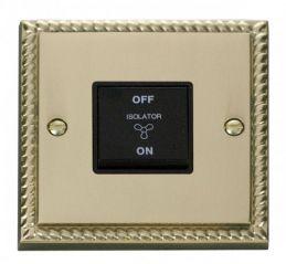 Scolmore Click Deco GCBR020BK 10A 1 Gang 3 Pole Fan Isolation Switch - Black
