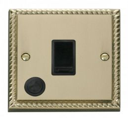 Scolmore Click Deco GCBR022BK 20A 1 Gang DP Switch With Flex Outlet - Black