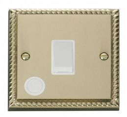 Scolmore Click Deco GCBR022WH 20A 1 Gang DP Switch With Flex Outlet - White