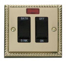 Scolmore Click Deco GCBR024BK 20A DP Sink/Bath Switch - Black