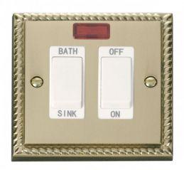 Scolmore Click Deco GCBR024WH 20A DP Sink/Bath Switch - White