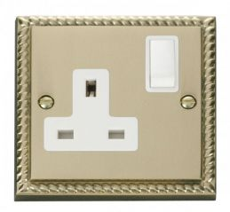 Scolmore Click Deco GCBR035WH 1 Gang 13A DP Switched Socket Outlet - White
