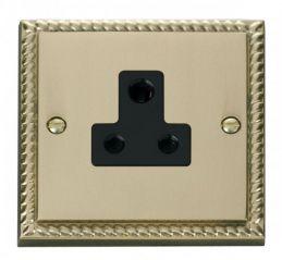 Scolmore Click Deco GCBR038BK 5A Round Pin Socket Outlet - Black