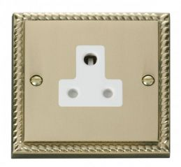 Scolmore Click Deco GCBR038WH 5A Round Pin Socket Outlet - White