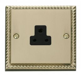 Scolmore Click Deco GCBR039BK 2A Round Pin Socket Outlet - Black