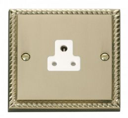Scolmore Click Deco GCBR039WH 2A Round Pin Socket Outlet - White