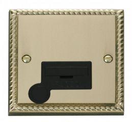Scolmore Click Deco GCBR050BK 13A Fused Connection Unit With Flex Outlet - Black