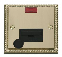 Scolmore Click Deco GCBR053BK 13A Fused Connection Unit With Flex Outlet & Neon - Black