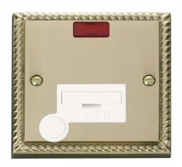 Scolmore Click Deco GCBR053WH 13A Fused Connection Unit With Flex Outlet & Neon - White