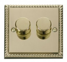 Scolmore Click Deco GCBR152 2 Gang 2 Way 400W Dimmer Switch