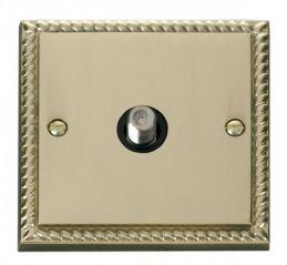 Scolmore Click Deco GCBR156BK 1 Gang Satellite Socket Outlet - Black