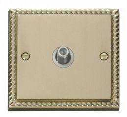 Scolmore Click Deco GCBR156WH 1 Gang Satellite Socket Outlet - White