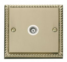Scolmore Click Deco GCBR158WH Single Isolated Coaxial Socket Outlet - White