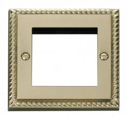 Scolmore Click Deco GCBR311 Single Plate (Twin Media Module Aperture)