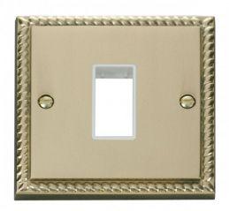 Scolmore Click Deco GCBR401WH 1 Gang Plate Single Aperture - White