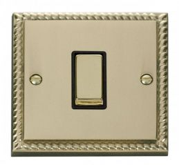 Scolmore Click Deco GCBR411BK 1 Gang 2 Way Ingot 10AX Switch - Black