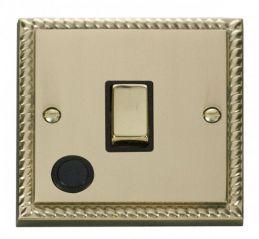 Scolmore Click Deco GCBR522BK 20A 1 Gang DP Ingot Switch With Flex Outlet - Black