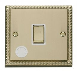 Scolmore Click Deco GCBR522WH 20A 1 Gang DP Ingot Switch With Flex Outlet - White