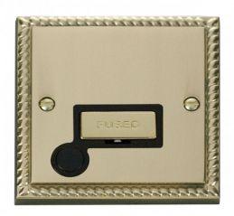 Scolmore Click Deco GCBR550BK 13A Fused Ingot Connection Unit With Flex Outlet - Black