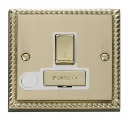 Scolmore Click Deco GCBR551WH 13A Fused Ingot Switched Connection Unit With Flex Outlet - White