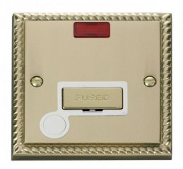 Scolmore Click Deco GCBR553WH 13A Fused Ingot Connection Unit With Flex Outlet & Neon - White
