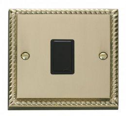 Scolmore Click Deco GCBR622BK 20A 1 Gang DP Switch - Black