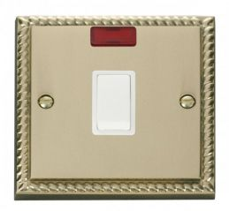 Scolmore Click Deco GCBR623WH 20A 1 Gang DP Switch + Neon - White