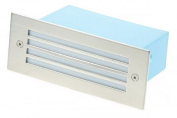 Scolmore Ovia LED480SSWH White LED Slatted Glass Wall Light