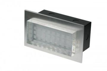 Scolmore Ovia LED455BABL Blue LED Semi Recessed Rectangle Wall Light