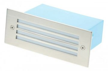 Scolmore Ovia LED480SSBL Blue LED Slatted Glass Wall Light