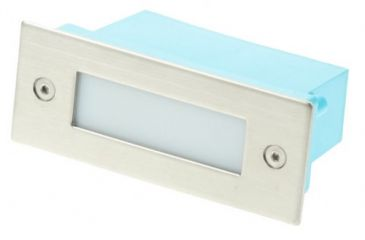 Scolmore Ovia LED470SSBL Blue LED Full Glass Wall Light