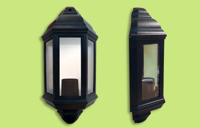 Eterna HL60B Polycarbonate Half Lantern - Black