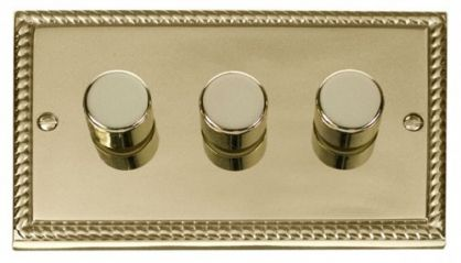 Scolmore Click Deco GCBR153 3 Gang 2 Way 400W Dimmer Switch