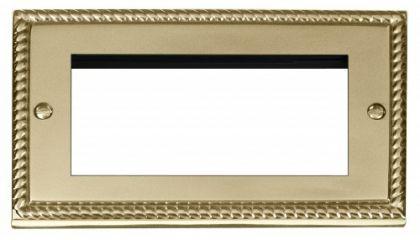 Scolmore Click Deco GCBR312 Double Plate (Quad Media Module Aperture)