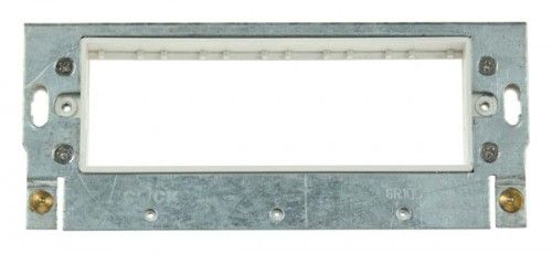 Scolmore GR100PW 6 Minigrid Module Yoke Polar White